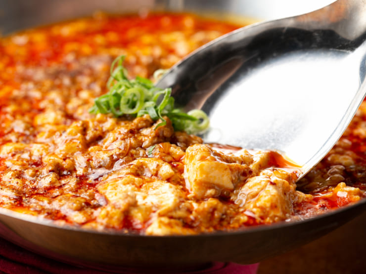 onseんで一番人気メニュー、激辛麻婆豆腐をご家庭でも。