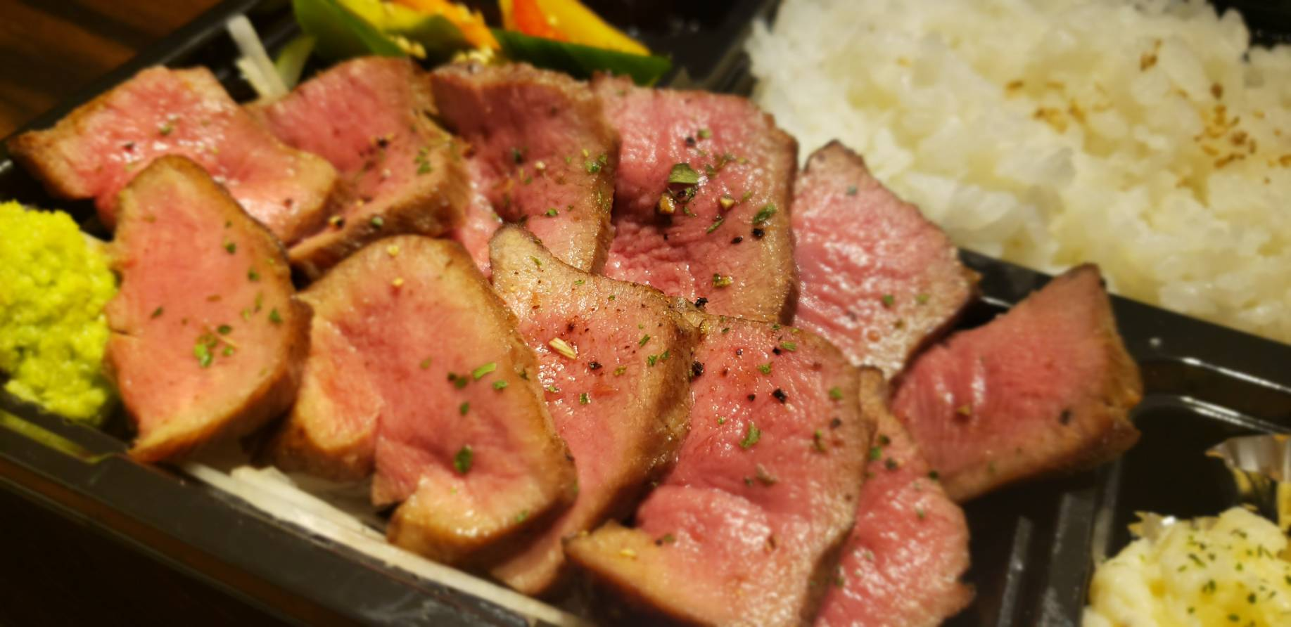 名物!肉師厳選のアンガス牛のお弁当!