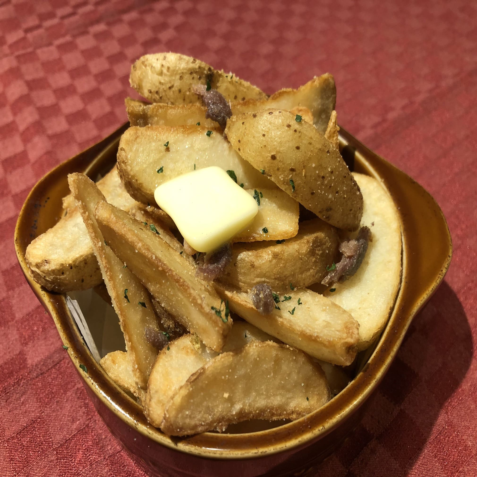 アンチョビとガーリック味のポテトフライ