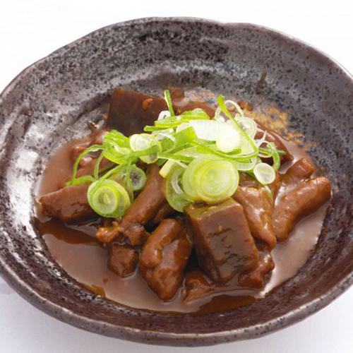 豚ホルモンの赤味噌煮