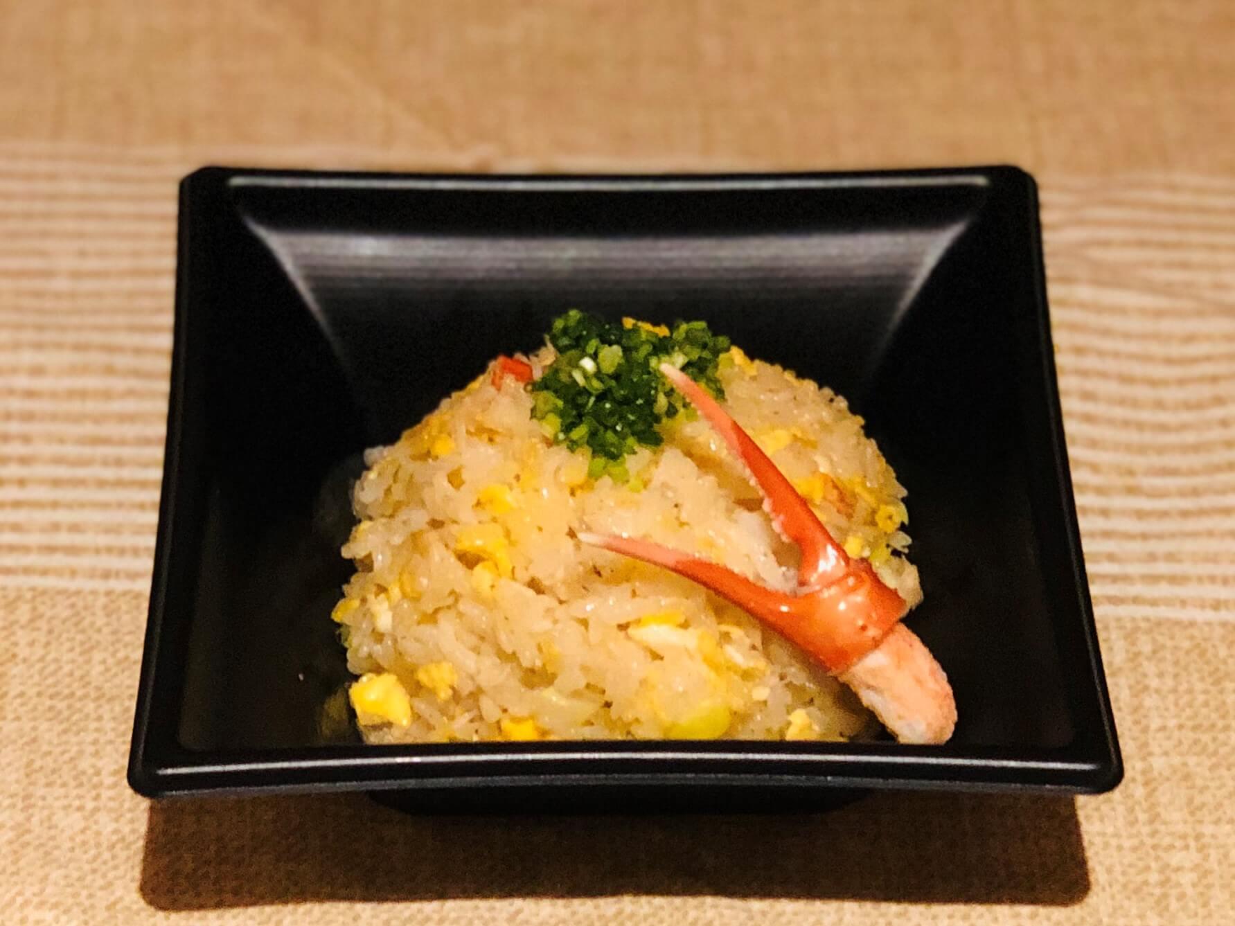 蟹の風味がたっぷり!和風の炒飯です。